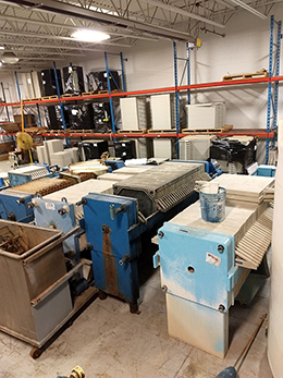 Pre-owned filter presses.